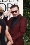 """Ricky Gervais arrives at the Golden Globe Awards at The Beverly Hilton Hotel in Los Angeles, Jan. 16, 2012 (Ian Wilson/<A HREF=""""http://www.wenn.com"""" TARGET=""""newwindow"""">WENN.COM</a>)"""