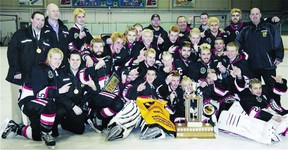 The Charleswood Hawks celebrated an MMJHL title last year and are favourites to do it again this year. They've won eight championships in the past 11 years. (Handout)