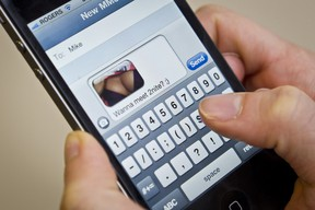 Police warn that sexting is becoming more common, and has serious risks. (ERROL MCGIHON/OTTAWA SUN)