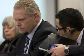 Doug Ford said last week's bitter debate at City Hall over transit plans that he and his brother lost was leading him to ponder a future in provincial politics.