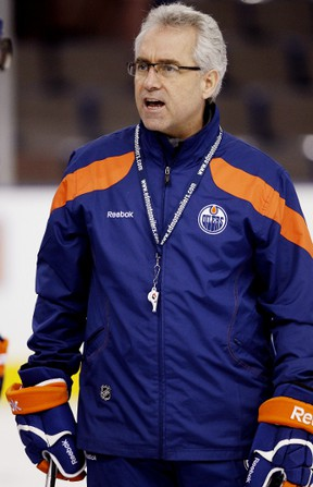 Oilers coach Tom Renney will miss Sunday's game against the Canucks as recovers from post-concussion symptoms after being hit in the head by a puck two weeks ago.