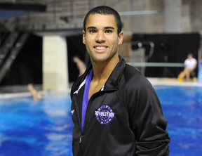 Geyson (above) and Edmonton's Eric Sehn (not pictured) just fell short of qualifying for the 2012 Summer Olympics in the men's 10-metre synchro event (QMI Agency files)