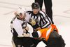 Pittsburgh Penguins' Sidney Crosby fights with Philadelphia Flyers' Claude Giroux during the first period in Game 3. (Tim Shaffer/REUTERS)