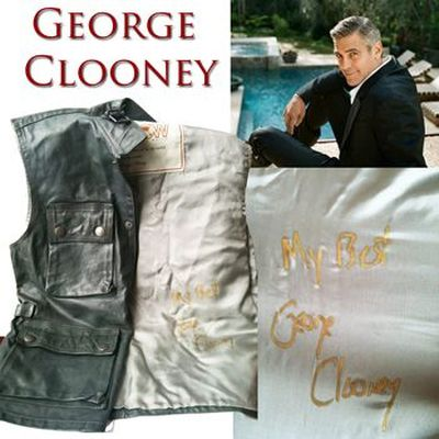 <b>A leather vest autographed by George Clooney</b><br>Offered by: Air Canada's Aeroplan<br>Price: 177,000 miles<br>Aeroplan members might be disappointed to know that the company took the item off its website shortly after the study was released as it was out of stock. (Aeroplan.com)