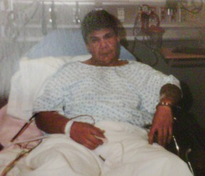 Vern William Hunter in hospital after his arrest. (COURT PHOTO)