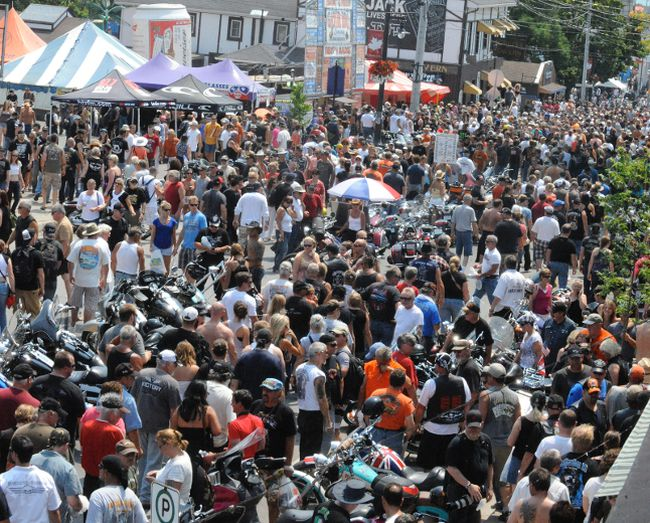 Friday the 13th motorcycle rally in Port Dover. Simcoe Reformer file photo