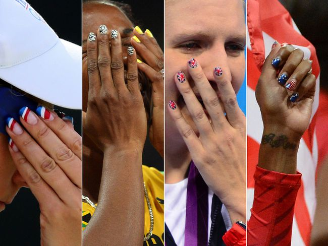 If there was a chance a billion people could see your nails, wouldn't you consider a manicure? Check out these Olympians' fun nail art.