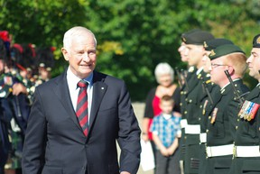 Governor General David Johnston was in Sault Ste. Marie, Ont. on Wednesday, Aug. 29, 2012. Johnston and his wife, Sharon, who both grew up in the Sault, are visiting the city for its 100th anniversary.  MICHAEL PURVIS/SAULT STAR/QMI AGENCY