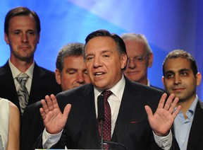 Coalition Avenir Quebec Leader Francois Legault after election results came in Tuesday, Sept. 4, 2012. (QMI Agency photo)