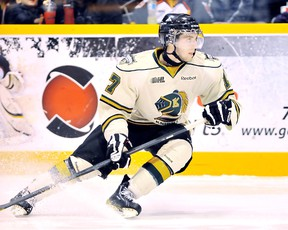 Seth Griffith scored two shootout goals in the London Knights' marathon win Sunday. (File Photo)