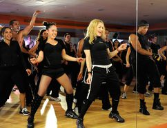 Madonna teaches a class at the opening of Hard Candy Fitness on Nov. 29, 2010 in Mexico City, Mexico. (Kevin Mazur/WireImage.com)