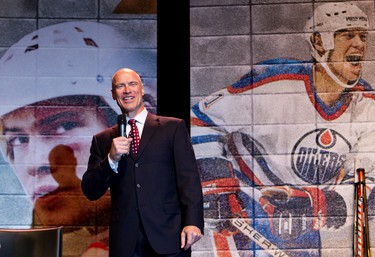 Mark Messier during the Legends Experience, an annual Kinsmen gala fundraiser, at the Edmonton Expo Centre in Edmonton, Alberta on Friday, September 21, 2012.  Mark Messier was on hand as the feature for the event. AMBER BRACKEN/EDMONTON SUN/QMI AGENCY