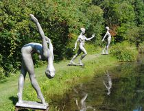 A trio of statues grace a pond at Griffis Sculpture Park in East Otto, New York. (ANNA RODRIGUES/Special to QMI Agency)