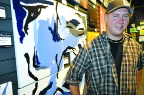 Ryan Mahy, Artfusion's founder and art director, in the local gallery September 21, 2012.