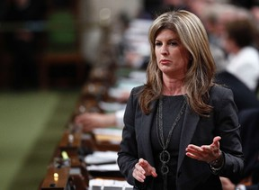 Canada's Public Works Minister Rona Ambrose speaks during Question Period in the House of Commons on Parliament Hill in Ottawa September 20, 2012. (REUTERS/Chris Wattie)