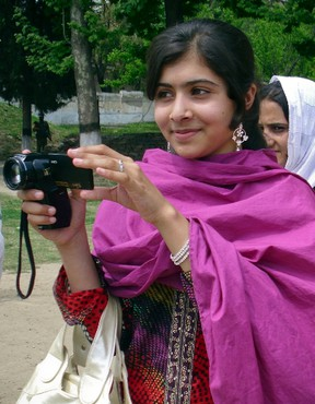 Malala Yousufzai, a 14-year-old schoolgirl who was wounded in a gun attack, is seen in Swat Valley, northwest Pakistan, in this undated file photo. (REUTERS/Hazart Ali Bacha files)