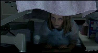 Kyra Collins. MOVIE: The Sixth Sense (1999).CREEPY KID: Let's be honest, there are a lot of creepy kids in this movie, including lead character and seer of dead people Cole (played by Haley Joel Osment) but the pale little girl hiding under the bed (played by Mischa Barton) takes the creepy crown. FEAR FACTOR: 5 screams out of 5. Watch for her under the bed!