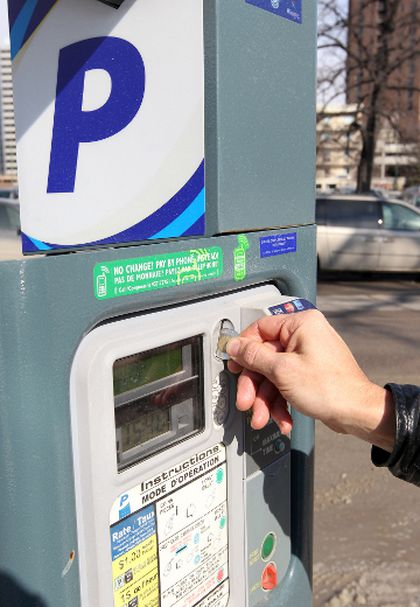Parking meter pay station Winnipeg FILER