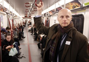 TTC CEO Andy Byford rides the subway. (DAVE ABEL/Toronto Sun files)