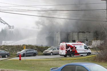 The scene of an industrial explosion in Sherbrooke, Quebec, Thursday, November 8, 2012. (CLAUDE CROISETIÈRE/QMI Agency)