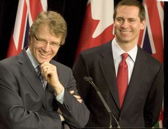 Gerard Kennedy, left, and Dalton McGuinty. (Sun files)