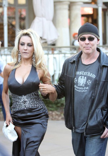 Courtney Stodden and Doug Hutchison. AGE GAP: 33 years. STATUS: Just nine months after filing for legal separation, the two were back together in August 2014 and renewed their vows. (Josiah True/WENN.COM)