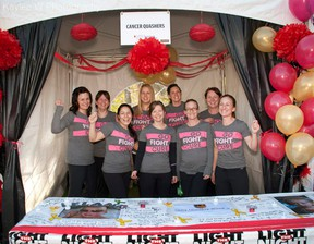 The Cancer Quashers pose at the Light the Night event in Edmonton in September.