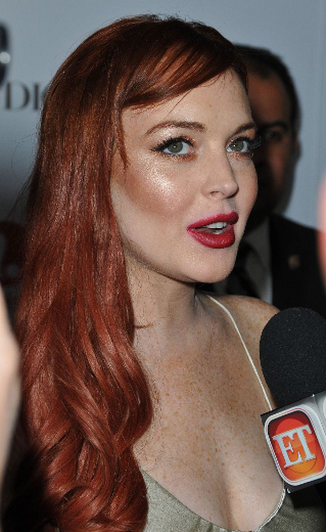 "Lindsay Lohan at the premiere of 'Liz & Dick' at the Beverly Hills Hotel in Beverly Hills, California, November 20, 2012. (Adriana M. Barraza/<A HREF=""http://www.wenn.com"" TARGET=""newwindow"">WENN.COM</a>)"