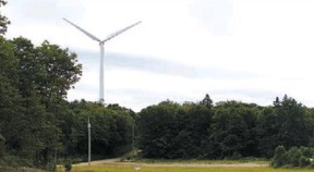 Manitoulin Island wind turbine