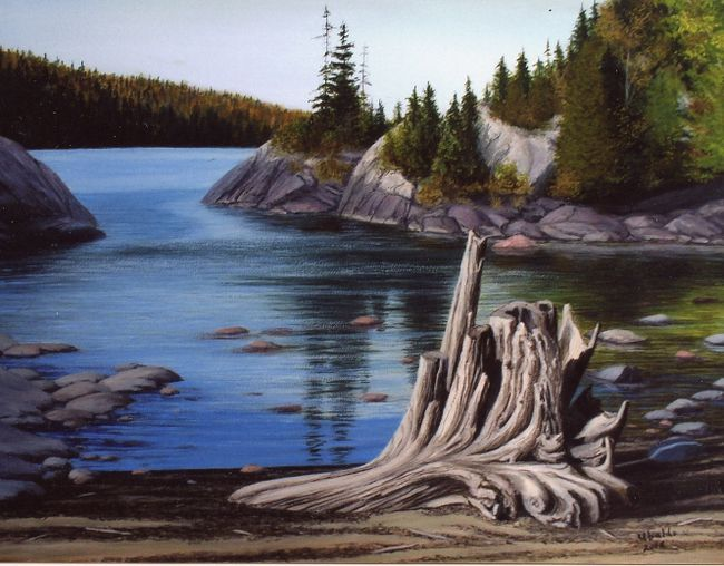 Pukaskwa Relic is one of 22 paintings Livio Ubaldi will feature at Algoma Art Society's Christmas sale at Willowgrove United Church's hall on Nov. 30 and Dec. 1.