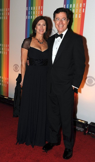 TV host Stephen Colbert and wife Evelyn attend the 35th Annual Kennedy Center Honors performance and gala at The John F. Kennedy Center for the Performing Arts in Washington December 2, 2012.  REUTERS/Mary F. Calvert