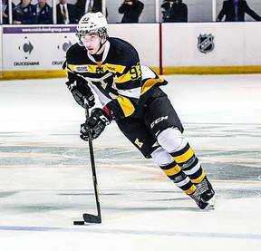Sam Bennett, a rookie left-wing, was one of four Kingston Frontenacs chosen for Team Canada Ontario at the Under 17 World Challenge, which is set to begin in Quebec on Dec. 29. The other Frontenacs chosen (not pictured) are left-winger Spencer Watson, defensemen Roland McKeown and Dylan DiPerna.     Supplied photo