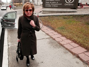 Christy Natsis outside Ottawa Court