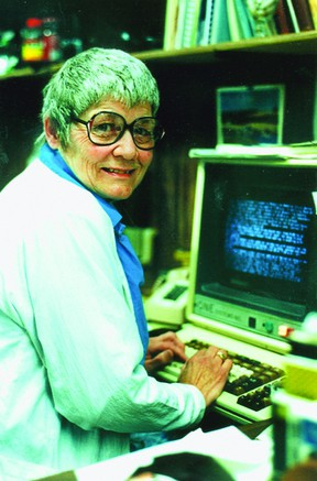 Technology has changed radically since Betty McDowell sat in front of a compugraphic machine on her last day of work for the Recorder and Times on August 28, 1987. FILE PHOTO