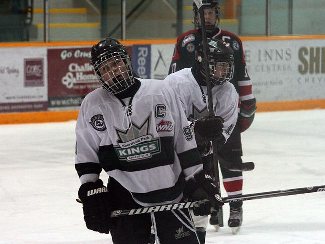 Sherwood Park Bantam AAA Flyers captain Sam Steel rolls his eyes after failing to score on a partial breakaway in Saturday's 6-1 loss to the Southside Athletic Club Lions. Steel has 56 points in 17 games. Photo by Shane Jones/Sherwood Park News/QMI Agency