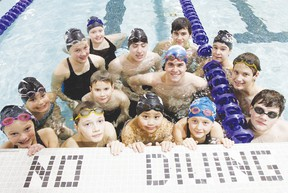 Members of the Wetaskiwin Orcas Lifesaving Club get ready to practice at the Aboussafy Aquatic Centre Dec. 5. Each member competed and placed at the club's recent meet at Spruce Grove.