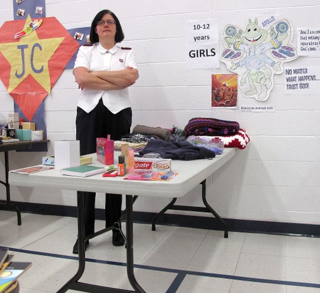 The Salvation Army's Capt. Stephanie Watkinson is appealing to the community to donate some new toys for various age groups to help meet the increased need for toy hampers the agency gives to less fortunate families at Christmas time. Age groups in dire need of donations are girls ages 7-9 and 10-12, as well as boys 3-6, and kids 0-2. Photo taken Thursday, Dec. 13, 2012. (ELLWOOD SHREVE, Chatham Daily News)