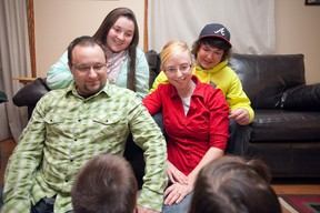 (Clockwise from left) Jeremy, Sabrina, Brenden, and Arien Marsh are in the final stages of adopting twin toddlers, and are thrilled to welcome the young boy and girl into their family and into their lives.