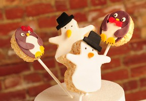 Gingerbread holiday pops