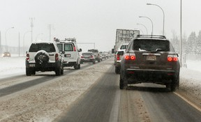 Drivers are cautioned to check road conditions and weather reports before setting out on long travels. Tom Briad | QMI Agency