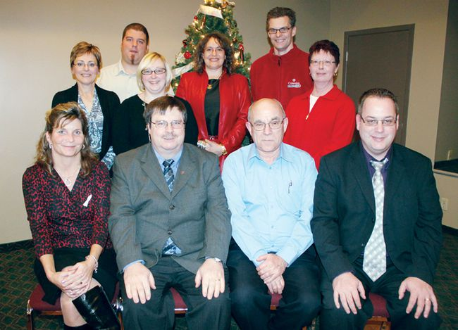 SEAN CHASE    The Upper Ottawa Valley Chamber of Commerce has elected its board of directors for 2013. In the photo are (front left to right) treasurer Kim Drake, president Brian McInall, Deep River chair John Walden, and past-president Gary Melnyk; (back left to right) directors-at-large Hélene Grondin, Nathan Lowe (Algonquin business student representative), Janice Krieger, Rebecca Bair Patel, Shawn Behnke and Jocelyn Scott. Missing are vice-president Osiah Horst and director Marilyn Alexander.