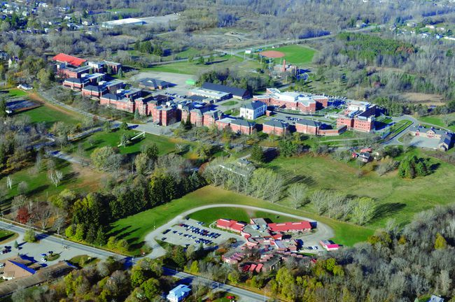 The facilities and grounds of the Brockville Mental Health Centre are shown in this aerial photo.