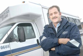 SCOTT WISHART The Beacon Herald Stratford Parallel Transit driver Ralph Steckly's quick actions very likely helped save the life of Stratford resident Diane Sims last month.