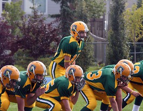 """The Sherwood Park Rams had a very rare """"Over in October"""" season, as they lost out to the rival Northstars in the CDMFA Bantam Tier I semifinals. It was the 50th anniversary season for the program. Photo by Shane Jones/Sherwood Park News/QMI Agency"""