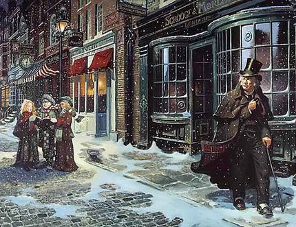 QMI AGENCY FILE A scene from Dickens' classic 'A Christmas Carol'.