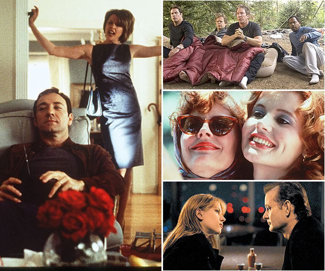 From middle-aged men smoking pot or going camping, to women who've had enough and break the law. These notable mid-life crisis movies will be sure to entertain.