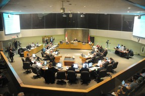 A council meeting in November