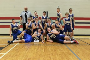 The FHS Jr. A boys basketball team attended a tournament in Grande Prairie Dec. 14-15 where they placed second and came home with a silver medal.  (Submitted by Terri Shewchuk)