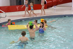 Increased fees or not, the S&D AquaFit Centre was the place to be on Wednesday, Jan. 2, as some of Beaumont's most enthusiastic water babies took to the pool and hit the slide.