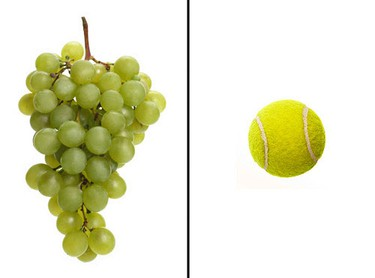 Food: Grapes or fresh fruit salad.One serving size should equal: 1/2 cup, or the size of a tennis ball. Grapes are about 80 per cent water, so they up that hydration factor too. (Shutterstock)